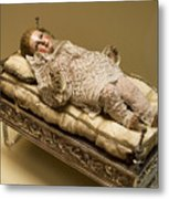 Baby Jesus In Lace Metal Print