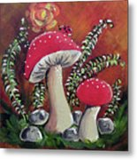 Baby Mushrooms Metal Print