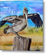 Baby Spreads His Wings Metal Print
