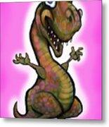 Baby T-rex Pink Metal Print