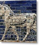Babylon: Enamel Brick Bull Metal Print