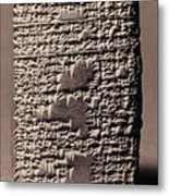 Babylonian Recipies Metal Print