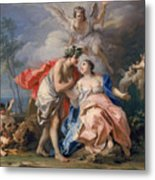 Bacchus And Ariadne Metal Print