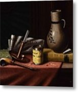 Bachelor S Table By William Michael Harnett Metal Print