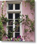 Back Alley Window Box - D001793 Metal Print