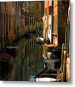 Back Canal In Venice Metal Print