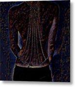 Back Of Beads Metal Print