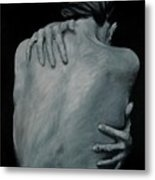 Back Of Naked Woman Metal Print
