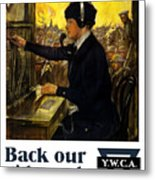 Back Our Girls Over There Metal Print by War Is Hell Store