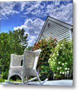 Back Porch In Summer Metal Print
