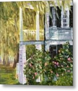 Back Porch Of Grove Plantation, Ace Basin Metal Print