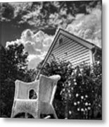 Back Porch Rocking Chair Metal Print