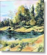 Back River Solitude Metal Print