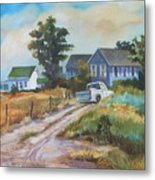 Back Road By The Bay Metal Print