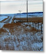 Back Road Metal Print
