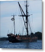 Back Side Pirates Metal Print