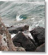 Back Swirl Metal Print