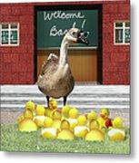 Back To School Little Duckies Metal Print
