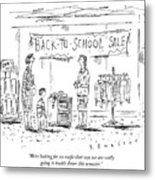 Back-to-school-sale Metal Print