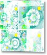 Colour Choice Poppy Collage Metal Print