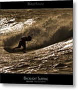 Backlight Surfing - Maui Hawaii Posters Series Metal Print