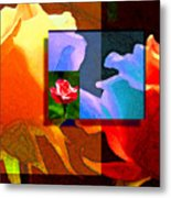 Backlit Roses Metal Print