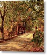 Backroads River Bridge Metal Print