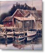 Backwater Fish Shack Metal Print