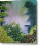 Backwoods Mist Metal Print