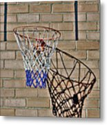 Backyard Basketball Metal Print