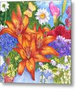 Backyard Bouquet Metal Print
