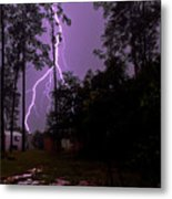 Backyard Lightning Metal Print