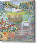 Backyard Porch Metal Print