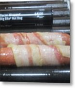 Bacon Wrapped Hot Dogs Metal Print