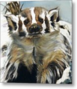 Badger - Guardian Of The South Metal Print