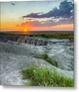 Badlands Np Wilderness Overlook 3 Metal Print