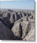 Badlands S.dakota Landscape  Metal Print