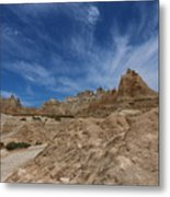 Badlands View From A Trail Metal Print