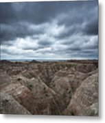 Badlands White River Valley  Metal Print