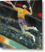 Badminton Player Metal Print