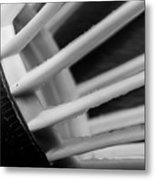 Badminton Shuttlecock Abstract Monochrome Metal Print