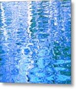 Baffling Blue Water Metal Print