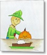 Baggs And Boo Canned Pumpkin Metal Print