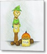Baggs And Boo Treat Or Trick Metal Print