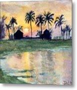 Bahama Palm Trees Metal Print