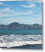 Baker Beach Panorama Metal Print