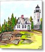 Baker Island Bar Harbor Maine Metal Print