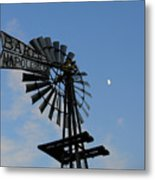 Baker Napoleon And The Moon Metal Print