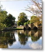 Bakewell Bridge And The River Wye Metal Print