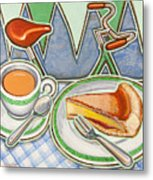 Bakewell Pudding And Cup Of Tea At Eroica Britannia  Metal Print
